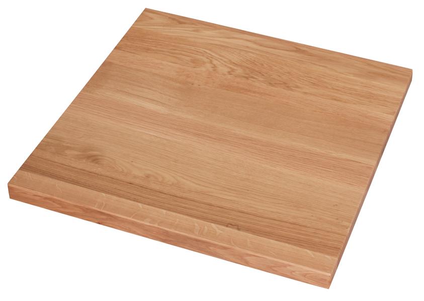 Tischplatte Eiche 28 mm 80x80