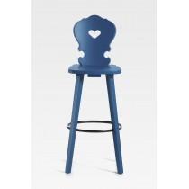 Barhocker Basel Fichtenholz blau lackiert