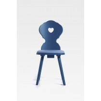 Bauernstuhl Baden   Buchenholz lackiert blau